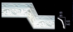 Leaf Scroll With Swag and Drop Design Cornice