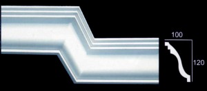 Large Plain Ogee Cornice