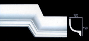Large Plain Georgian Cornice